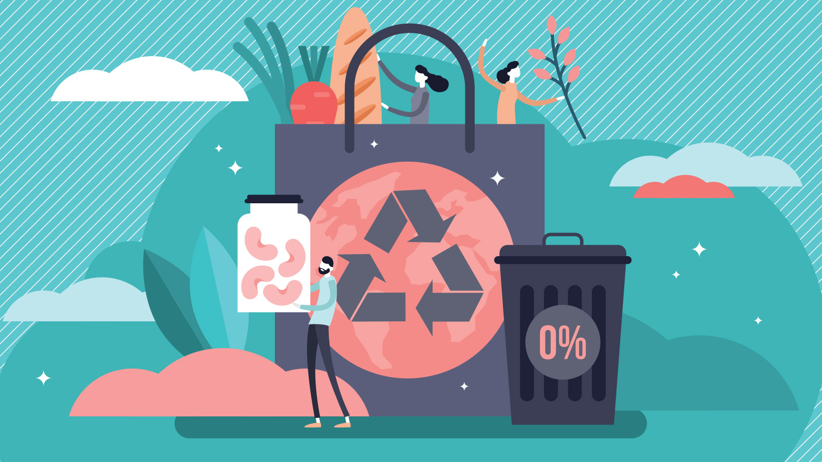 Zero waste vector illustration