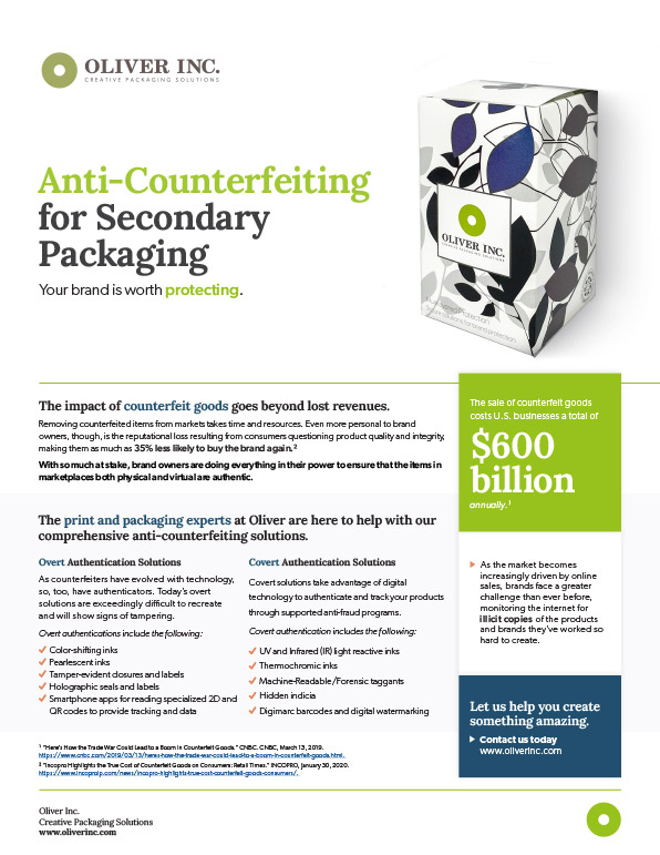 Anti-Counterfeiting Solutions Sell Sheet