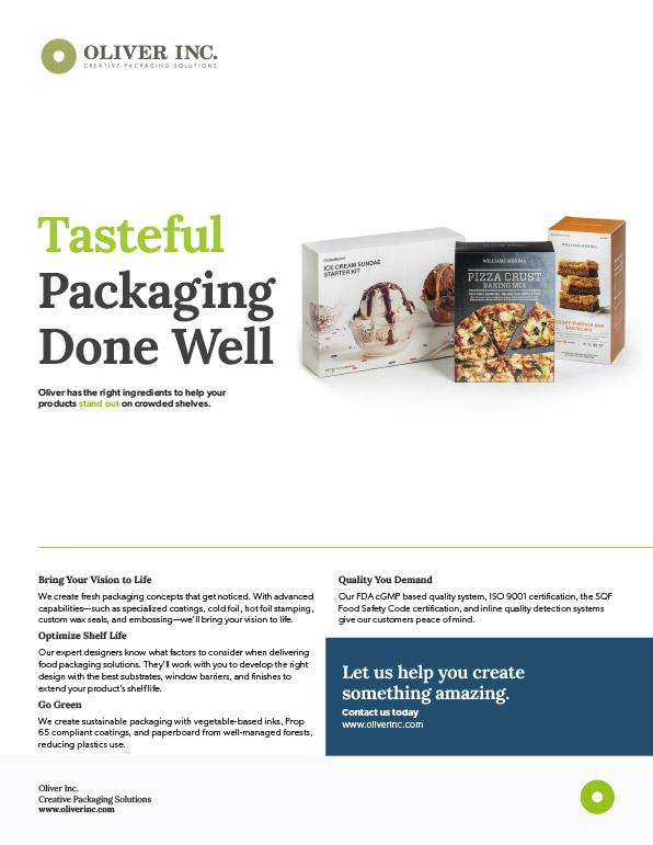 Food & Beverage Sell Sheet