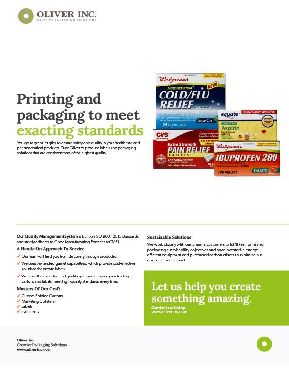 Pharmaceutical Sell Sheet