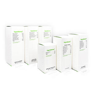 Ingredients Skin Care Packaging