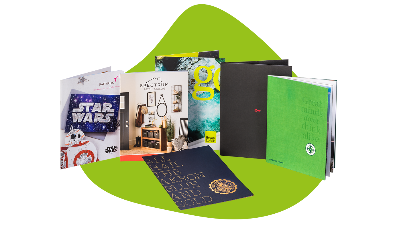 Various-Marketing-Materials-with-a-green-background