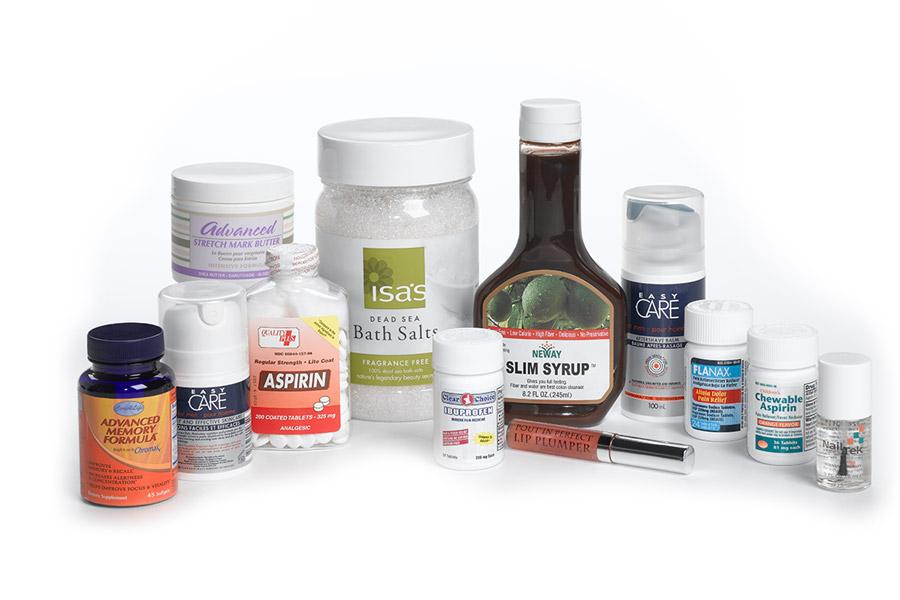 multiple pharmaceutical labels